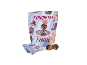 Конфеты FINDI арахис и изюм с варёной сгущёнкой в шоколадной глазури
