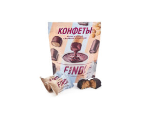 Конфеты FINDI кокос и арахис с варёной сгущенкой в шоколадной глазури