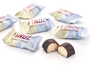 Конфеты FINDI кокос с варёной сгущенкой в шоколадной глазури весовые